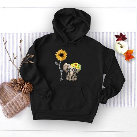 winter women's popular elephant print hooded sweater NHSN278699's discount tags