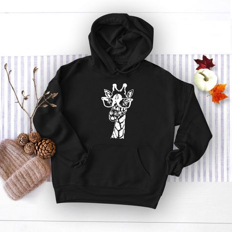 autumn and winter women's popular elephant print hooded sweater NHSN278700's discount tags