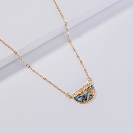 new  creative semicircle color natural pendant necklace  NHAN278767's discount tags
