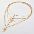 Exaggerated cross pendant multilayer womens new necklace NHAJ278796