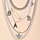 fashion angel pearl pin multilayer chain womens necklace  NHAJ278797