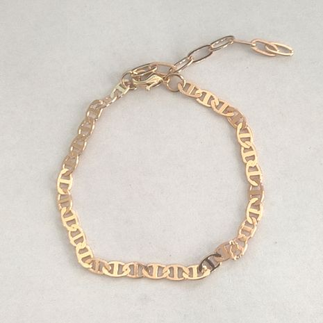 new alloy thin chain fashion simple gold bracelet  NHLL278803's discount tags