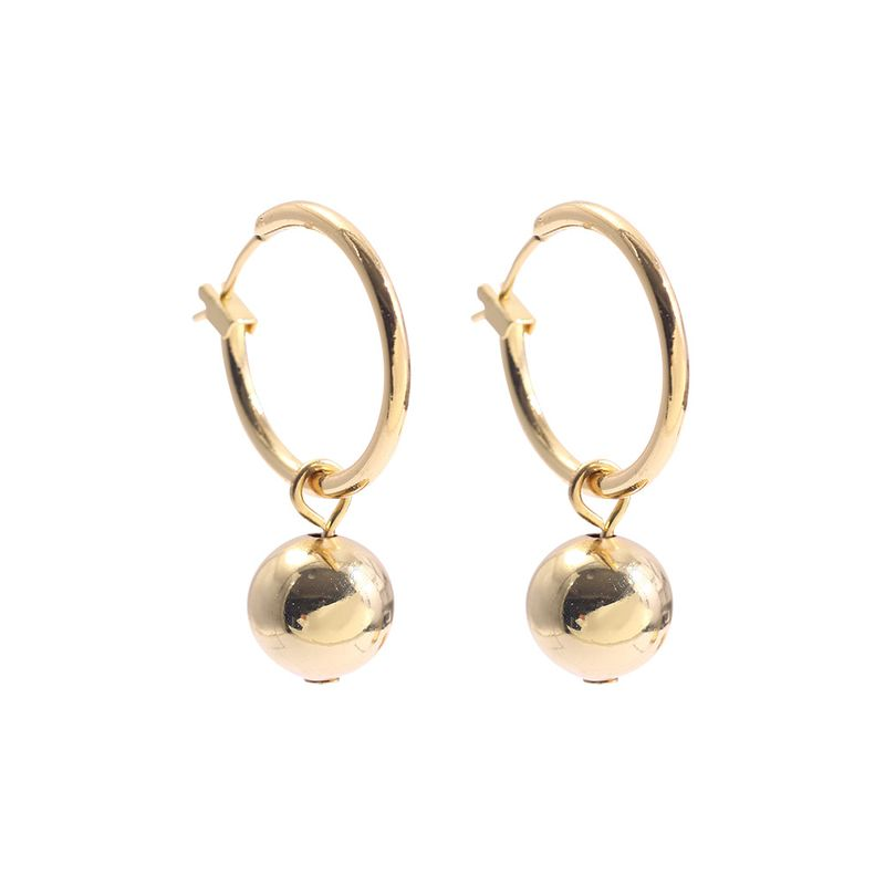 fashion circle  simple  doublesided alloy earrings  NHLL278808