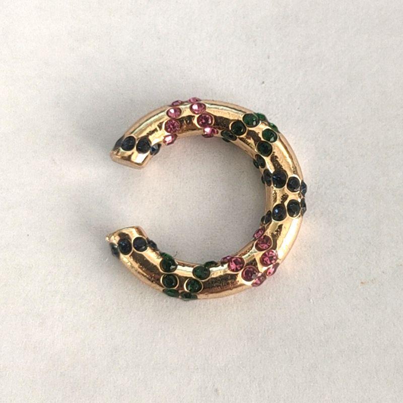 Fashionable colorful zircon geometric earrings  NHLL278809