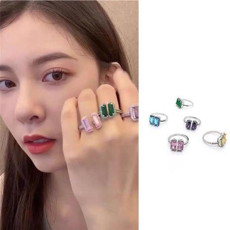 La nouvelle bague micro-incrustée de zircon et de pierres précieuses de Corée NHYQ278812's discount tags
