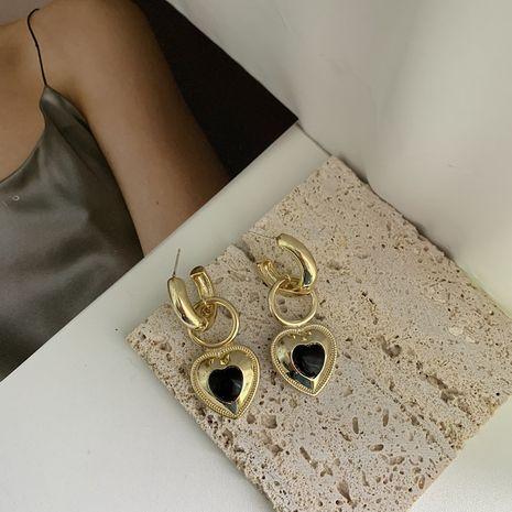 Boucles d'oreilles coeur de style palais baroque rétro français NHYQ278820's discount tags