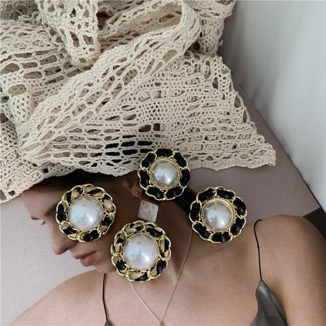 French retro pearl earrings NHYQ278835's discount tags