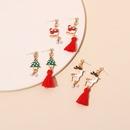 retro plush tassel pearl Christmas earrings  NHRN278853