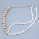 Fashion imitation pearl womens necklace NHJE278876