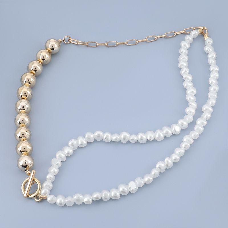 Fashion imitation pearl women's necklace NHJE278876