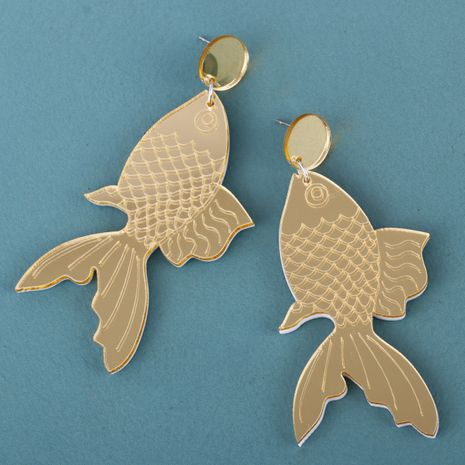 new acrylic plate fish earrings  NHJJ278895's discount tags