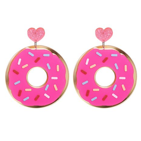 Exaggerated Cute Donut Food Long Earrings NHJJ278900's discount tags