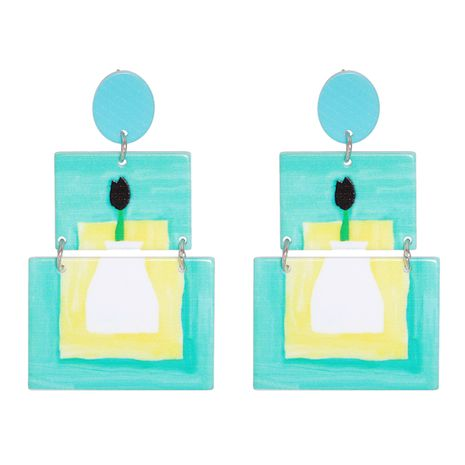 geometric acrylic exaggerated earrings NHJJ278901's discount tags