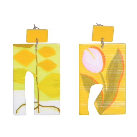 geometric acrylic exaggerated long earrings  NHJJ278905's discount tags