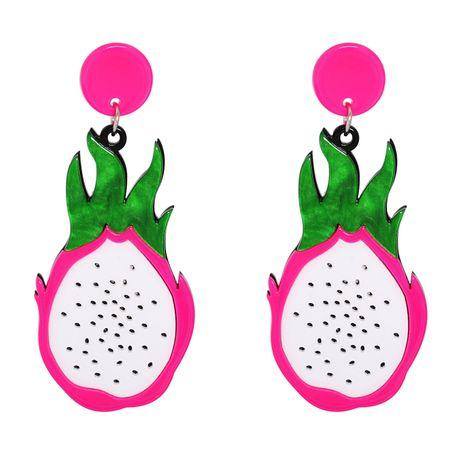 longues boucles d'oreilles exagérées en acrylique pitaya NHJJ278906's discount tags