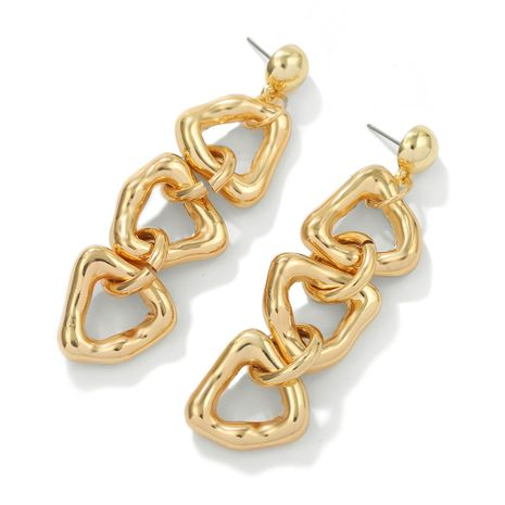 irregular exaggerated metal chain earrings  NHJQ278914's discount tags