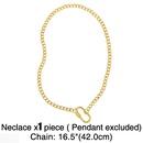 Cuban necklace 26 letter necklace  NHAS278918