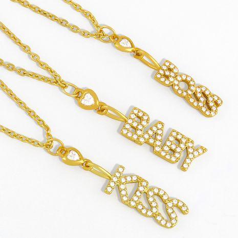 diamond pendant letter necklace  NHAS278920's discount tags