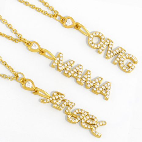 fashion  inlaid zircon necklace  NHAS278926's discount tags
