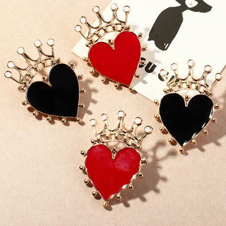 boucles d'oreilles rétro simples couronne en forme de coeur NHNZ278930's discount tags