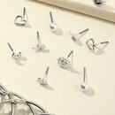 circle earrings 6piece set NHNZ278932