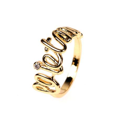 nouvelle bague de mode lettre de diamant ouvert en cristal anglais NHPY278956's discount tags