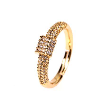 nouvelle bague ouverte en diamant simple NHPY278957's discount tags