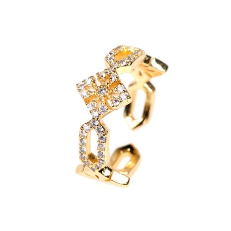 nouvelle bague ouverte diamant croix gothique NHPY278958's discount tags