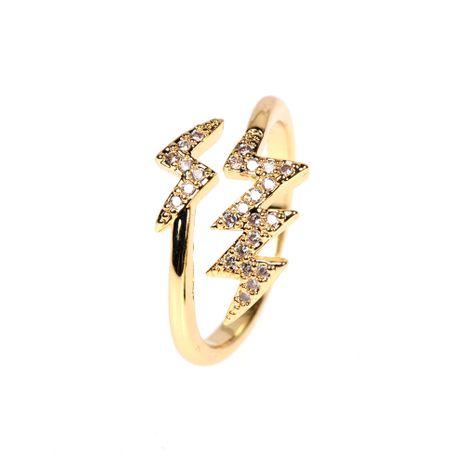 bague ouverte en cuivre et diamants NHPY278961's discount tags