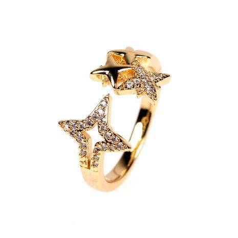 Bague étoile super clignotante en plaqué or 18 carats et diamants NHPY278963's discount tags