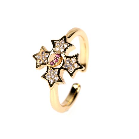 new  starry  star  moon ring  NHPY278964's discount tags