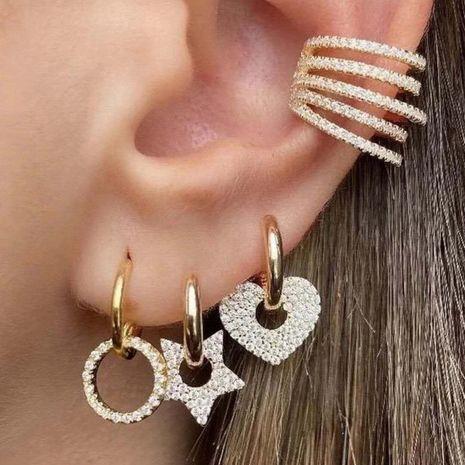 boucles d'oreilles diamant simples en forme de coeur NHPY278975's discount tags