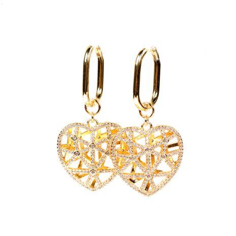 boucles d'oreilles créatives en forme de coeur avec diamant creux NHPY278976's discount tags
