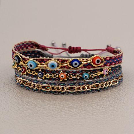 pulsera de pareja de cadena de oro de cuerda de mano hecha a mano NHGW278983's discount tags