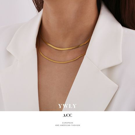 multilayer  creative retro personality golden alloy  necklace  NHPJ279008's discount tags