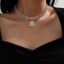 simple Cuban full inlaid necklace NHXR279019