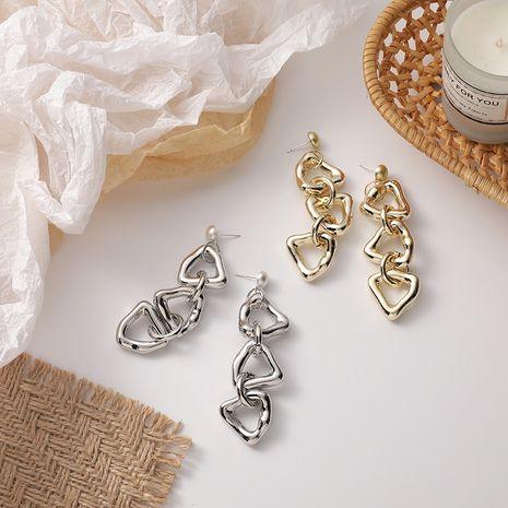 Korean fashion hollow triangle tassel earrings  NHMS279049's discount tags
