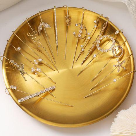 crystal flashing diamond zircon earrings  NHMS279055's discount tags