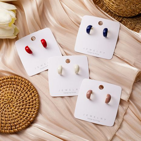 Fashionable curved earrings  NHMS279062's discount tags