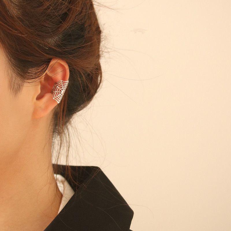 dark metal spider no pierced earrings  NHYQ279116