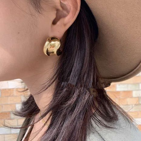 fashionable twisted irregular circle earrings  NHYQ279120's discount tags