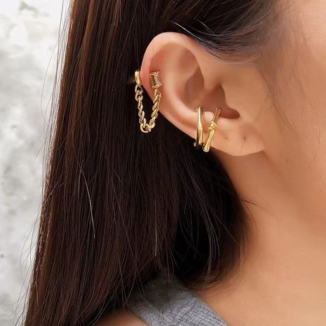 pince à os d'oreille en diamant avec pompon rétro simple NHYQ279123's discount tags