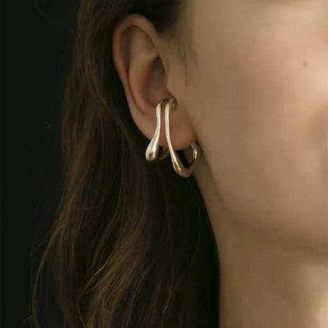 geometric double ear clip  NHYQ279129's discount tags