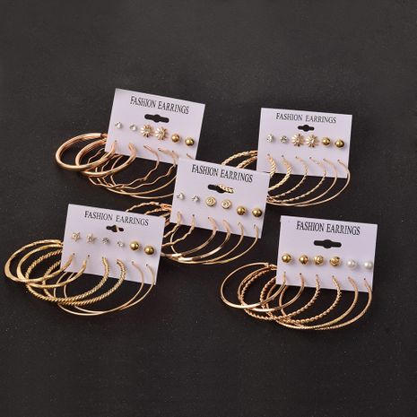big circle exaggerated earrings set 6 pairs NHSD279153's discount tags