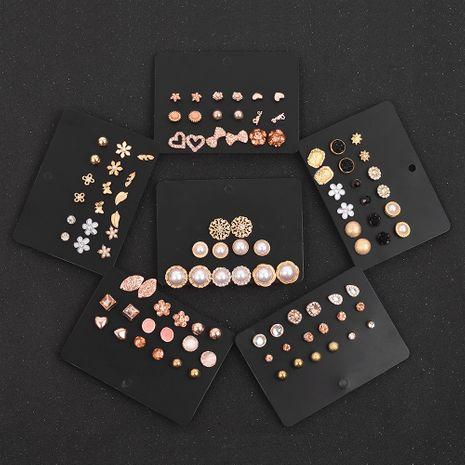 pendientes de oro retro set 9 pares NHSD279154's discount tags