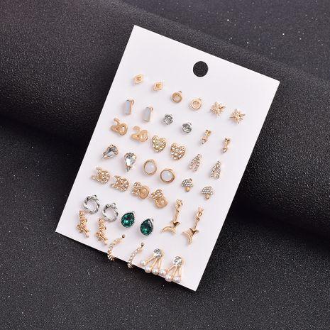 conjunto de pendientes de aleación de diamantes de imitación de 21 pares NHSD279159's discount tags