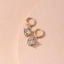 goldplated peach heart rhinestone earrings  NHAI279165
