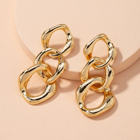 retro metal chain punk exaggerated earrings  NHAI279168's discount tags