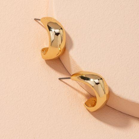 fashion C-shaped golden earrings NHAI279167's discount tags