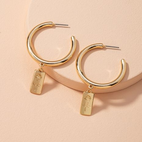 alloy  simple  round wire earrings NHAI279175's discount tags